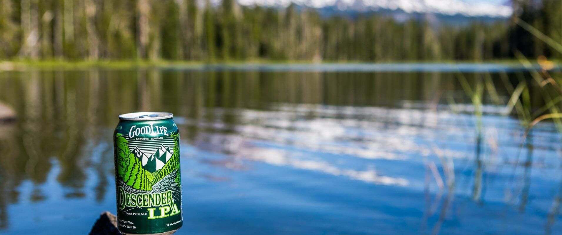Oregon beer at the lake in Bend.