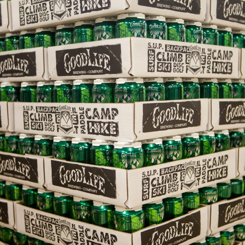Goodlife cans of beer