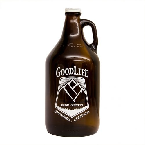 GoodLife Brewing Company 64oz Glass Growler