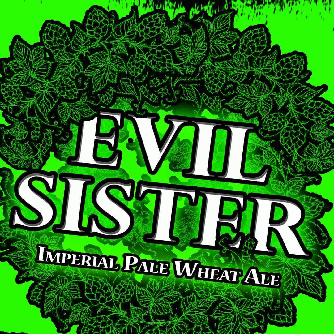 Uhh ohhh.....Evil Sister is Back! 8.5% abv Experimental Hop Imperial Pale Wheat Ale! Available at the Tasting Room now!  Want to try it! Ask your friendly neighborhood bartender! Available OR, WA, ID! Limited Time Only!