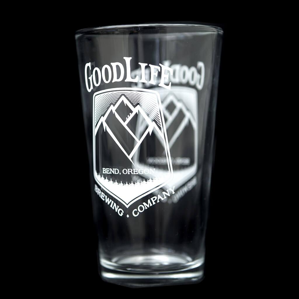 Goodlife Logo 16oz Pint Glass Goodlife Brewing Bend