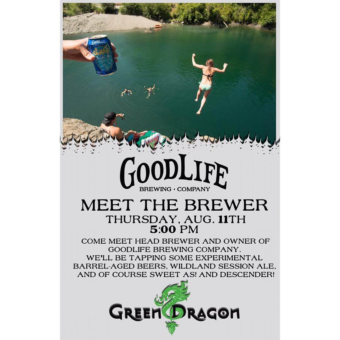 Grab your friends and come meet us @pdxgreendragon TONIGHT!!! You won't want to miss trying any of these #barrelaged #beers! 🍺 🍺 🍺  #goodlifebrewing #bend #oregon  #craftbeer #portland #pdx #portlandoregon #portlandlife #greendragon