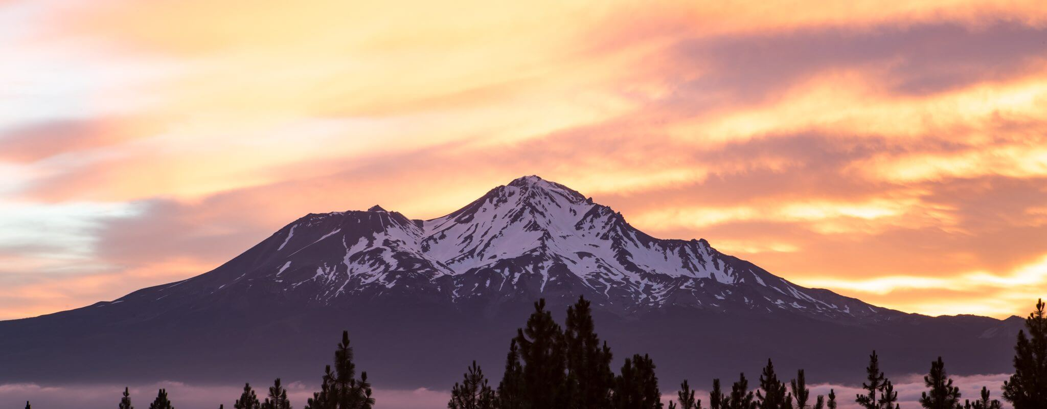 Sunset snow capped Bend, Oregon