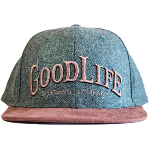 hunter-green-herringbone-hat-with-brown-suede-flatbill-1