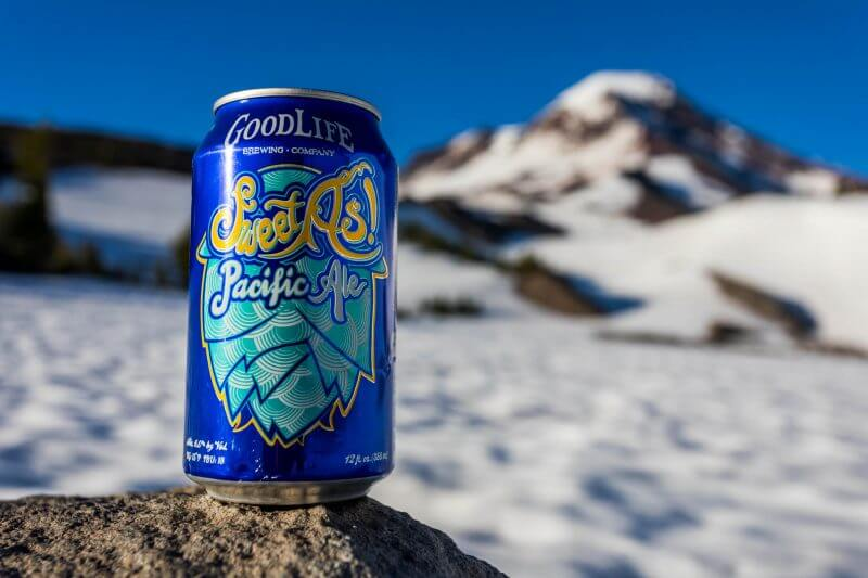 Goodlife, Bend beer in the snow