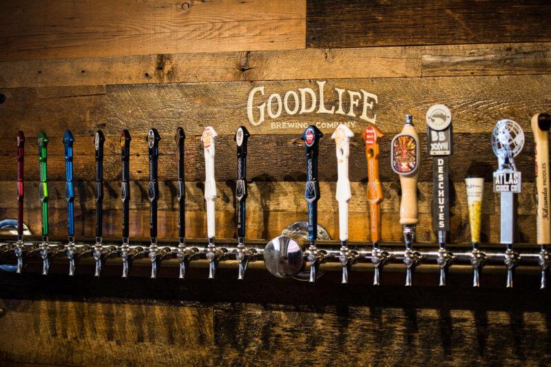 Goodlife beer taps in Bend, Oregon