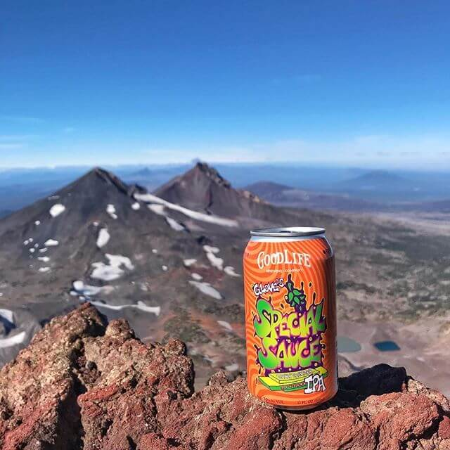 After a big hike, you've gotta have that Special Sauce at the top of South Sister!