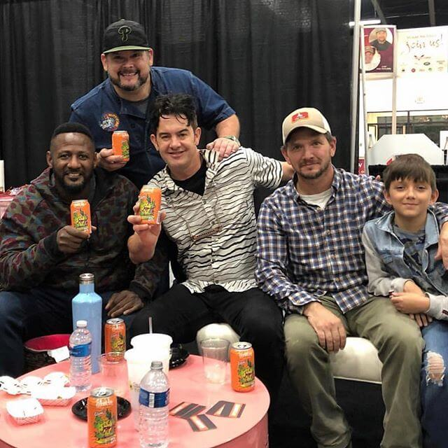 We are bummed we couldn't be at @taste_fest this weekend, but we couldn't be happier seeing @phillyglove @fmitchell84 and @chefbriduff enjoying G. Love's Special Sauce IPA aka Danky Dankster! 🍻 fellas! 📸: @phillyglove