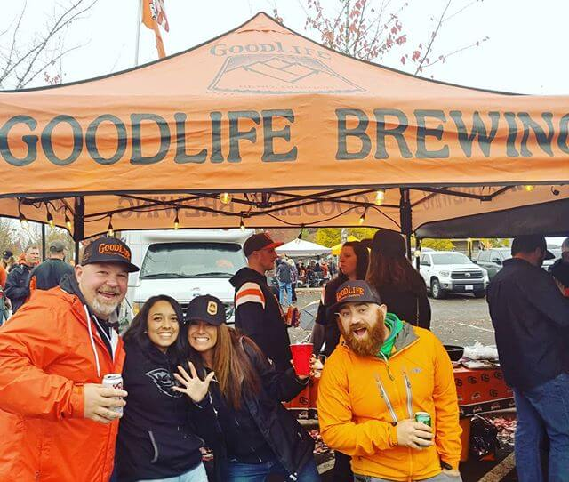 Enjoyed the game and our GoodLife Brewing tailgater at Oregon State! Even brought a Fermentation Program Grad along from the brewery!