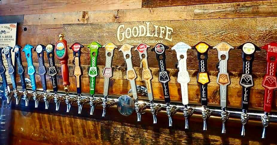Breaking are own record's. 18 GoodLife beers now on Tap at the tasting room. Sweet As Pacific Ale, Descended IPA, Comatose IIPA, Pass Stout, Bavarian Lager, Grapefruit Guava Wheat, Sippy Cup Hazy Pale, Redside Red IPA, Reserve Saison, Long Acronym, Resilience IPA, Evil Sister Double IPA, Bend Reality Riff Coffee Stout, Cherry Vanilla Imperial Stout, Man of the Hour Flanders Red, 7 yr Bourbon Imperial Stout, BlackBerry Porter and Mountain Rescue Dry Hop Pale. 🍻🍻🍻🍻🍻