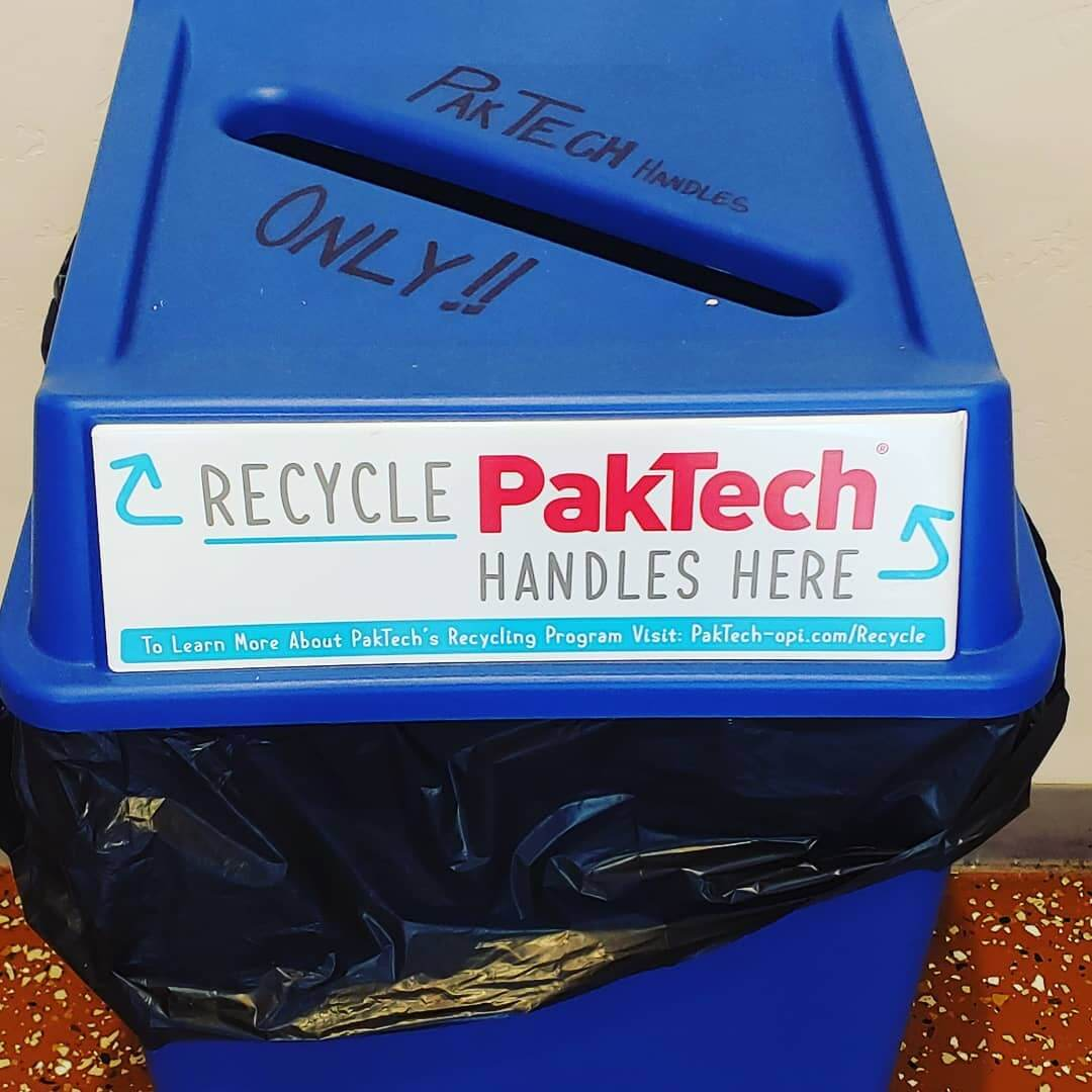 ♻You can now bring in your used @paktech handles to GoodLife and will help recycle them. ♻ Located in our tasting room, easy westside Bend location. #thinkgreen #paktech