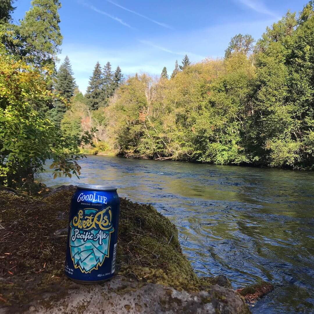 The afternoon special is a cold beer and river view! #whatsyourgoodlife #sweetaspacificale