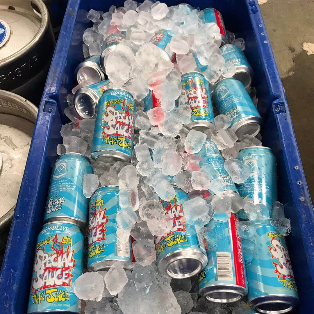 Is there anything better than a cooler full of ice cold beer?! Especially when it's @phillyglove's new The Juice IPA! #whatsyourgoodlife #thejuice