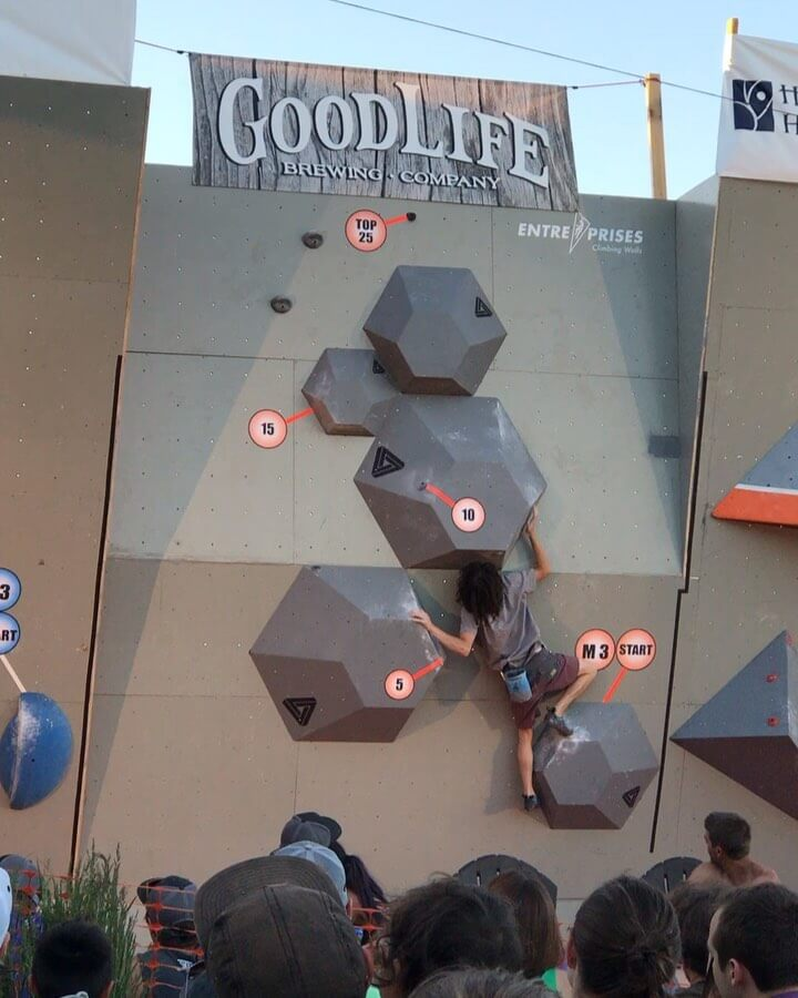 Who is going to make it to the top of this years @theoutsidegames Summer Boulder Comp presented by @bendrockgym this Saturday @goodlifebrewing?! We are 5 nights away from witnessing some of the best climbers in the world give it their all on one of the coolest bouldering walls ever built! The climbing starts at 6pm so get there early to get yourself a seat and a cold beverage! #whatsyourgoodlife #subaruoutsidegames