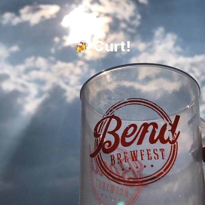 @bendbrewfest starts today and we couldn't be more excited! The doors open at 4pm and we are going to be doing our Cheers to Curt at 4:20pm, so come by the  @goodlifebrewing table and join us in a cheers to our lost brother and friend!