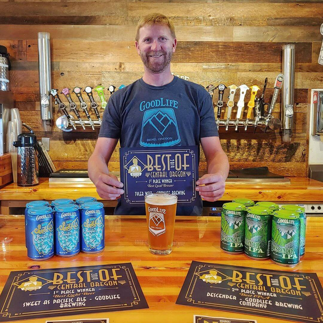 THANK YOU Bend and @sourceweekly for naming Sweet As! Pacific Ale Best Light Ale, Descender IPA Best IPA Runner Up, and a huge win for Best Local Brewer going to our own Tyler West! Thanks to everyone who voted and has supported us throughout the years! #goodlifebrewing