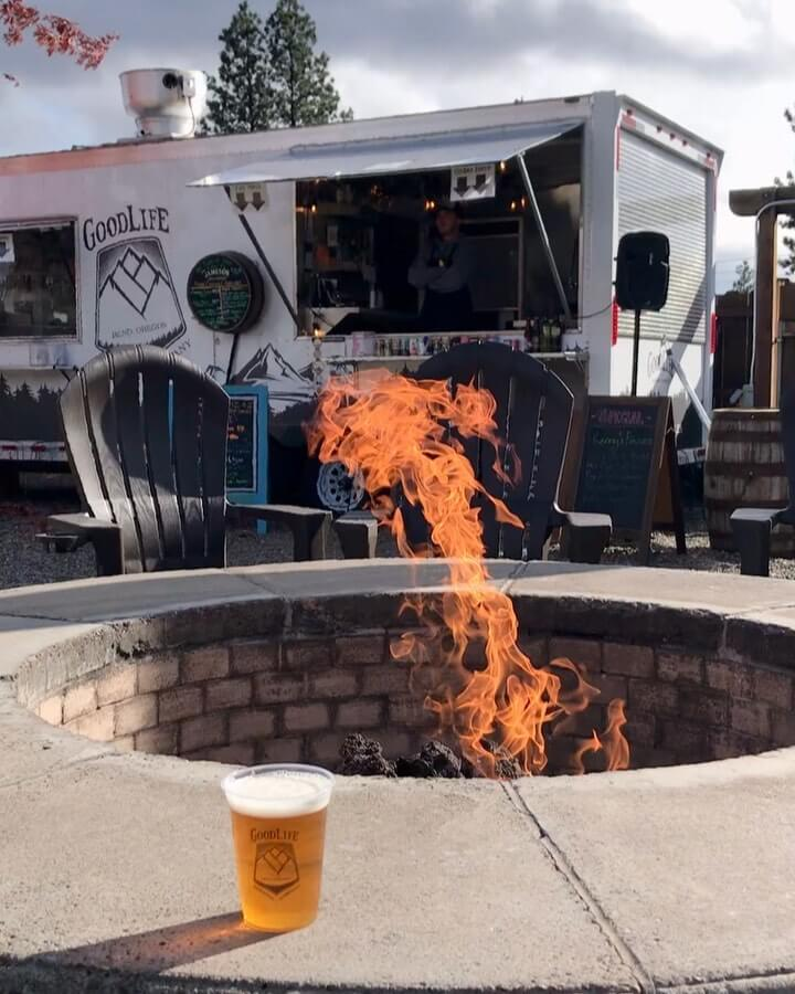 It's Locals Day and we've got the biergarten open for your enjoyment! The sun, a fire, and a cold Descender IPA is a great way to spend Thursday afternoon/evening! #goodlifebrewing