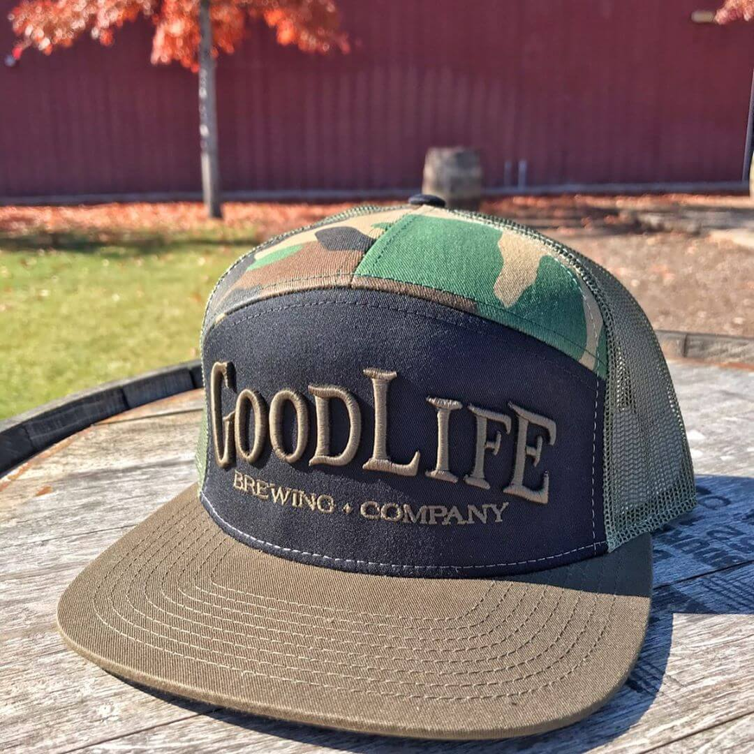 We've got some fresh new swag for you! Back by popular demand, our GoodLife camo hat, a new GoodLife wool hat, and a few different colors of beanies to keep you warm all fall and winter! All of these items plus more are available in the pub or on our website. Click the link in our bio to access the online shop! #goodlifebrewing