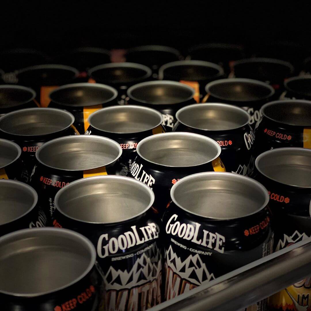 Comatose cans patiently waiting to get filled for your enjoyment. #goodlifebrewing #comatoseimperialipa