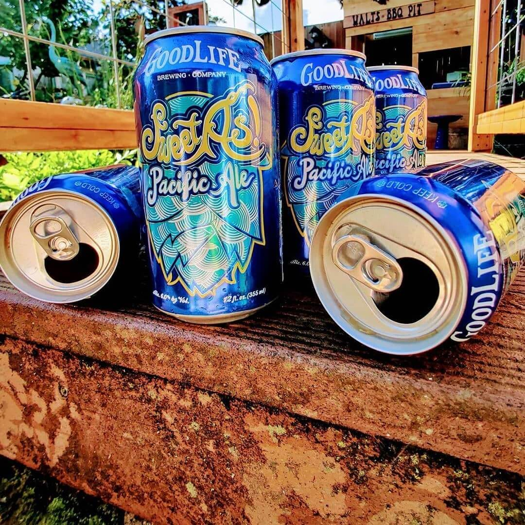 Beerantine done right! We'll keep the Sweet As! Coming to ya! 📷:@kurumisakaihara  #beerantine #craftbeerlover #craftbeer #paleale #cannedbeer #oregonbeer #beertography #quarantinelife #quarantine