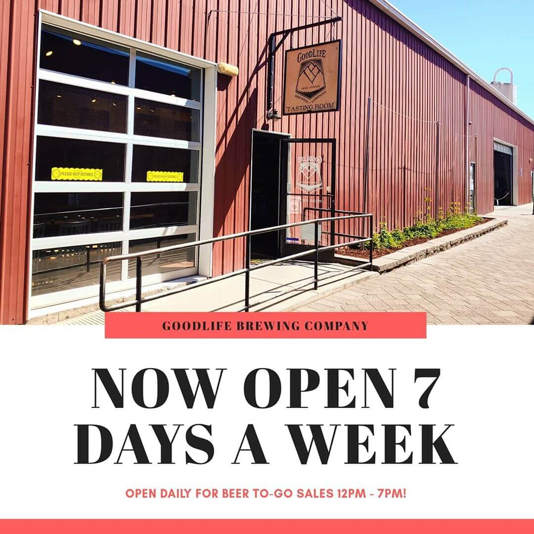 Good News! We are now open daily 7 days a week for beer to-go sales 12pm – 7pm. We also have 64oz  Growlers and 32oz Growlettes back in stock for growler fills.  Also MUG CLUB Mondays are back in a limited way. Current Mug Club Members only, stop by every Monday and see what our Mug Club Special is!  Also more big news coming this week, stay tuned!