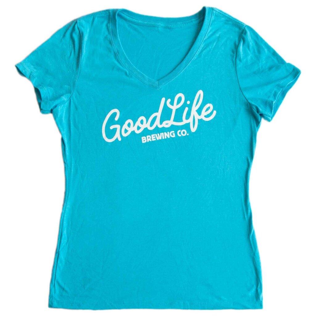 GoodLife Women's Turquoise V Neck